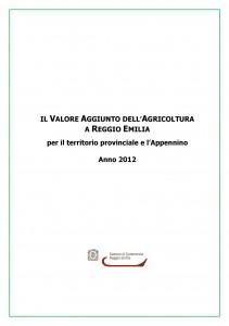 VALORE AGGIUNTO AGRICOLTURA 2012
