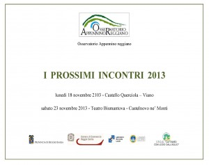 I prossimi incontri 2013