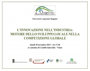 Innovazione nell'industria 18 novembre 2013