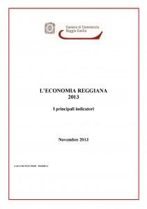 Economia reggiana Principali indicatori novembre 2013