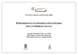 Seminario Performance economico-finanziaria delle imprese locali 10 dic 2013