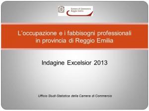 L'occupazione e i fabbisogni professionali 2013