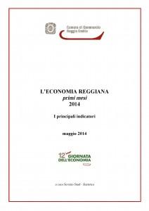 Copertina L'economia reggiana - primi mesi 2014