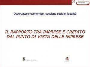 Il rapporto tra imprese e credito
