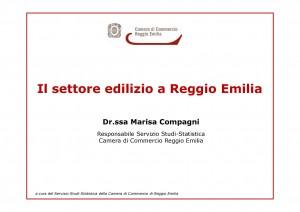 Il settore edilizio a Reggio Emilia
