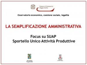 La semplificazione amministrativa 10 novembre 2014
