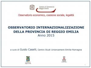 Osservatorio internazionalizzazione 2015